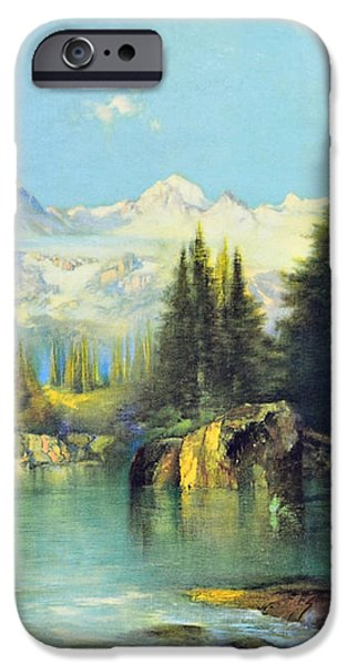 View of the Rocky Mountains iPhone Case by Susan Leggett