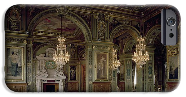 Chandelier iPhone Cases - View Of The Salle Des Arts, After 1871 Photo iPhone Case by French School