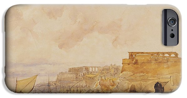 Harbor Drawings iPhone Cases - View of Valetta iPhone Case by James Holland