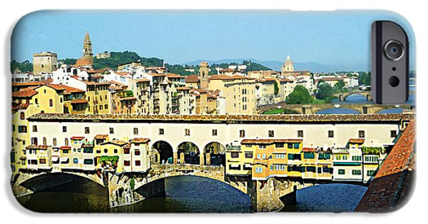 Recently Sold -  - Child iPhone Cases - View On Ponte Vecchio From Uffizi Gallery iPhone Case by Irina Sztukowski