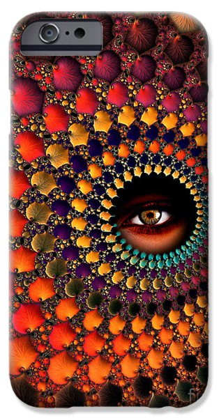 Fractal Mixed Media iPhone Cases - View iPhone Case by Photodream Art
