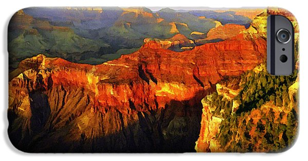 Grand Canyon Mixed Media iPhone Cases - View - Yavapai Point iPhone Case by  Bob and Nadine Johnston