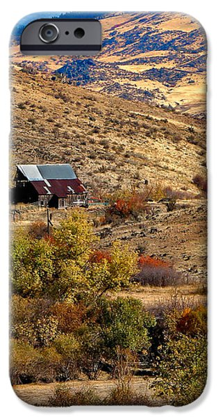 Viewing the Old Barn iPhone Case by Robert Bales