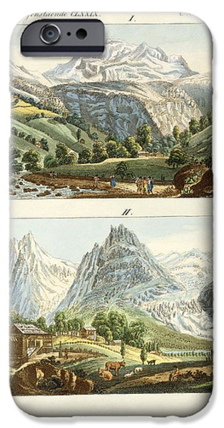 Grindelwald iPhone Cases - Views of Switzerland iPhone Case by Splendid Art Prints