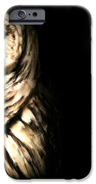 Ga iPhone Cases - Vigilant In Darkness iPhone Case by Lourry Legarde
