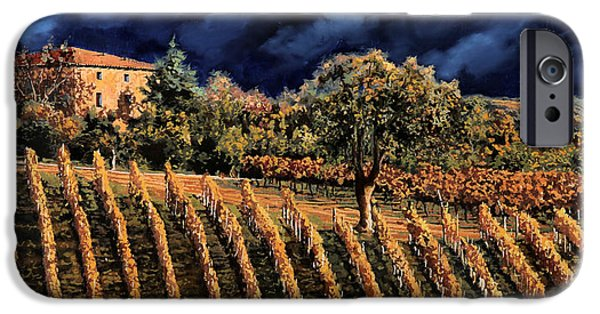 Grape Vineyard iPhone Cases - Vigne Orizzontali iPhone Case by Guido Borelli