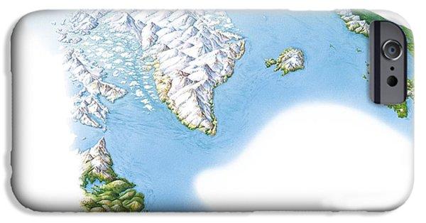 North Sea iPhone Cases - Viking Arctic Regions, Artwork iPhone Case by Gary Hincks