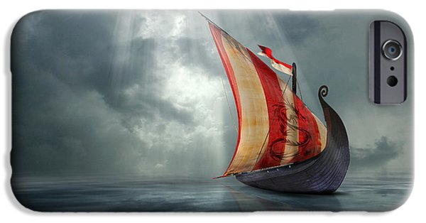 Recently Sold -  - Pirate Ships iPhone Cases - Viking Ship iPhone Case by Astrid Rieger