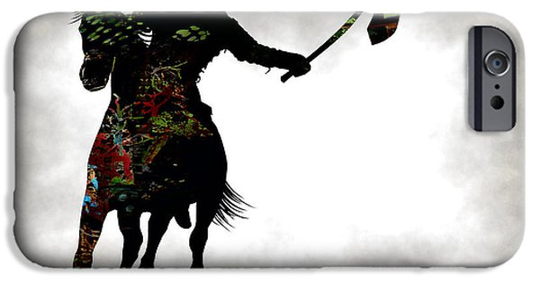 Recently Sold -  - Norway iPhone Cases - VIKING WARRIOR on HORSEBACK iPhone Case by Daniel Hagerman