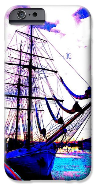 Component iPhone Cases - Vikings Go Sailing  iPhone Case by Hilde Widerberg