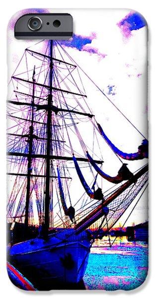 vikings go sailing  iPhone Case by Hilde Widerberg