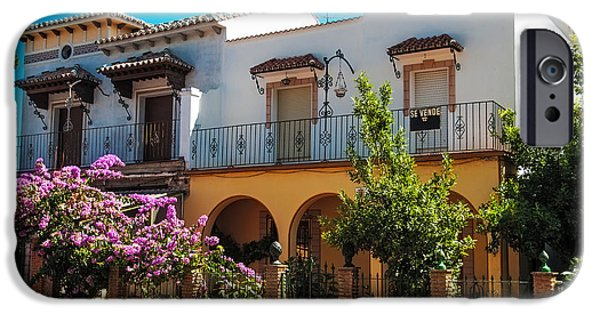 Spanish House iPhone Cases - Villa in Ronda. Spain iPhone Case by Jenny Rainbow