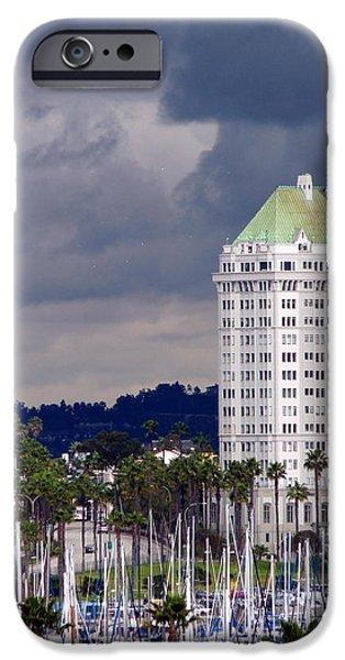 Villa Riviera Long Beach iPhone Case by Jeff Lowe