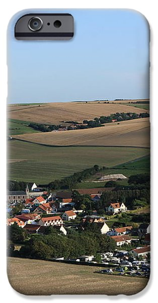 Village In A French Landscape  iPhone Case by Aidan Moran