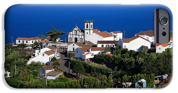 Village By The Sea iPhone Cases - Village in Azores islands iPhone Case by Gaspar Avila