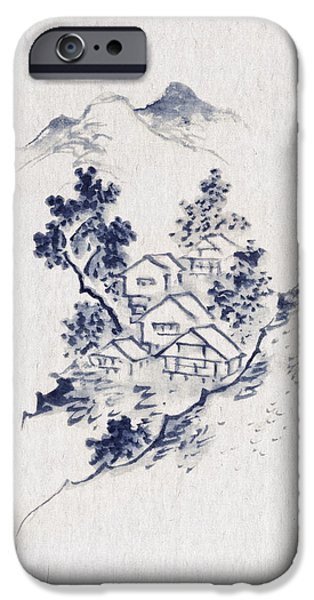 Village iPhone Cases - Village in the mountains iPhone Case by Aged Pixel