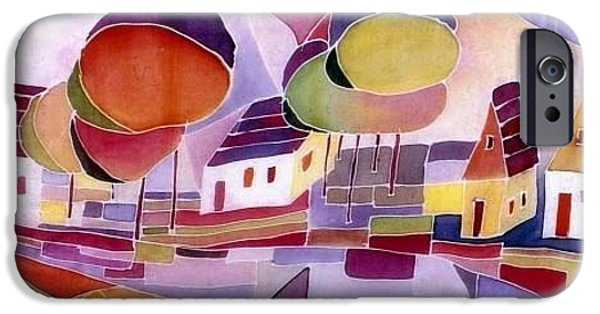 Village Tapestries - Textiles iPhone Cases - Village iPhone Case by Julia Shapiro