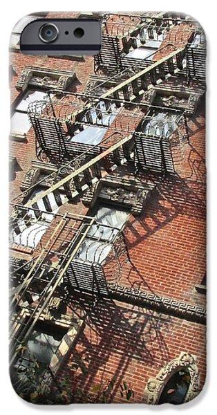 East Village iPhone Cases - Village Ladders iPhone Case by Steven Lapkin