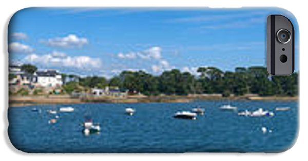 Village iPhone Cases - Village Of Larmor-baden, Gulf Of iPhone Case by Panoramic Images