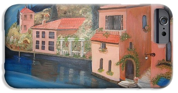 Village Sculptures iPhone Cases - Village on the Bay iPhone Case by Charline Utley