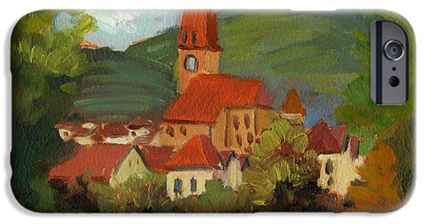 Village iPhone Cases - Village on the Danube iPhone Case by Diane McClary