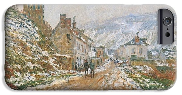 Village iPhone Cases - Village Street iPhone Case by Claude Monet