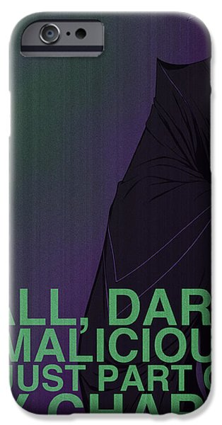Villains Poster - Maleficent iPhone Case by Christopher Ables