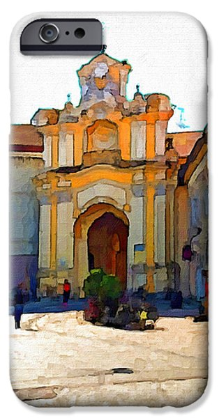 Nature Abstracts iPhone Cases - Vilnius Old Town 33 iPhone Case by Yury Malkov