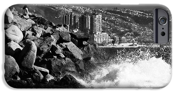 Vineyard Prints iPhone Cases - Vina del Mar Waves iPhone Case by John Rizzuto