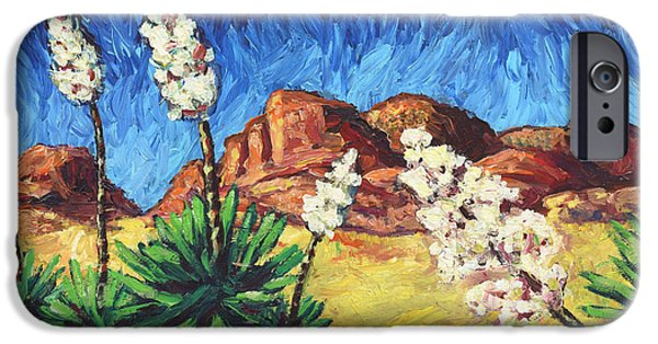 Skyscape iPhone Cases - Vincent in Arizona iPhone Case by James W Johnson