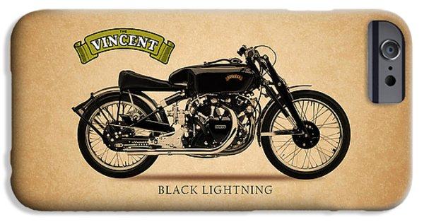 Vincent iPhone Cases - Vincent Black Lightning iPhone Case by Mark Rogan