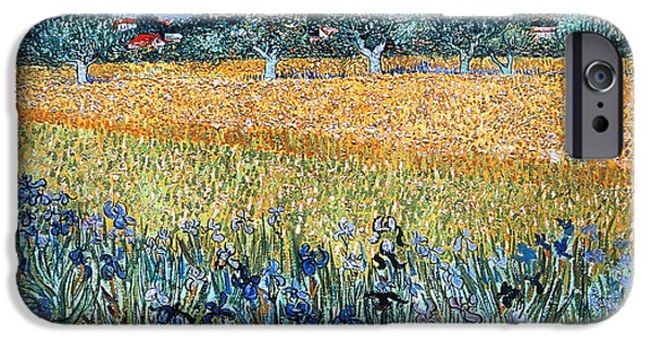 19th Century Photographs iPhone Cases - Vincent Van Gogh 1853-1890. Dutch Painter. Field With Flowers Near Arles. 1888. Van Gogh Museum iPhone Case by Bridgeman Images