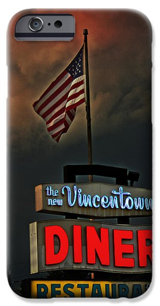 Old Glory iPhone Cases - Vincentown Diner iPhone Case by Tom Gari Gallery-Three-Photography