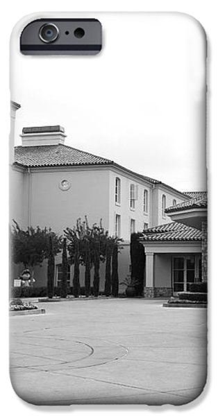 Vineyard Creek Hyatt Hotel Santa Rosa California 5D25787 bw iPhone Case by Wingsdomain Art and Photography