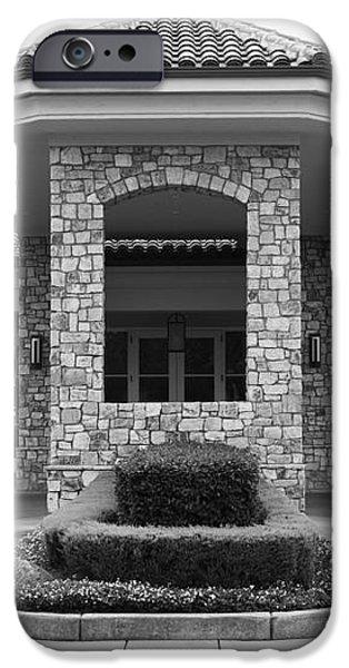 Vineyard Creek Hyatt Hotel Santa Rosa California 5D25792 bw iPhone Case by Wingsdomain Art and Photography