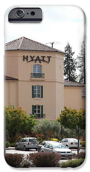 Vineyard Creek Hyatt Hotel Santa Rosa California 5D25866 iPhone Case by Wingsdomain Art and Photography