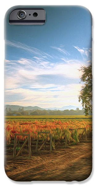 Vineyard in Fall iPhone Case by Lanjee Chee