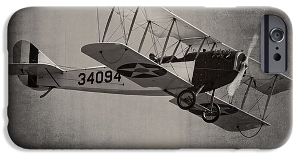 World War One Photographs iPhone Cases - Vintage 1917 Curtiss JN-4D Jenny Flying  iPhone Case by Keith Webber Jr