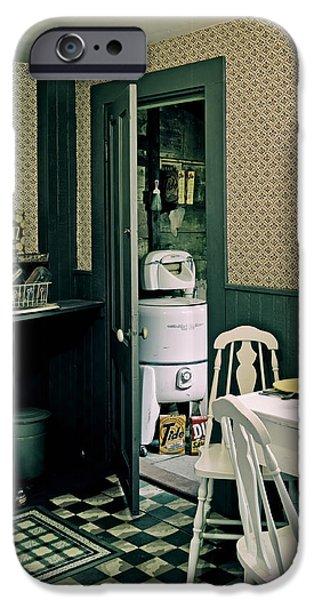 Linoleum iPhone Cases - Vintage 1950s Kitchen iPhone Case by Mountain Dreams