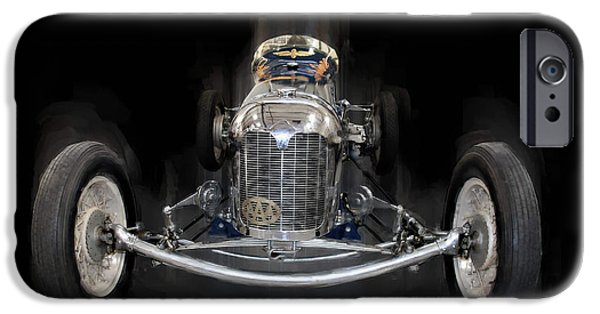 Indy Car iPhone Cases - Vintage 33 iPhone Case by Tom Griffithe