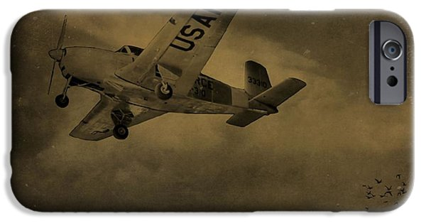Gear Mixed Media iPhone Cases - Vintage Air Force Flight World War Two iPhone Case by Dan Sproul
