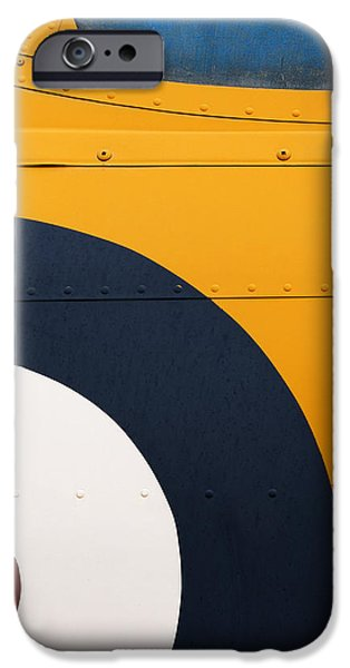 Vintage Airplane Abstract Design iPhone Case by Carol Leigh