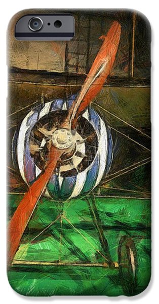 Gear Mixed Media iPhone Cases - Vintage Airplane iPhone Case by Dan Sproul