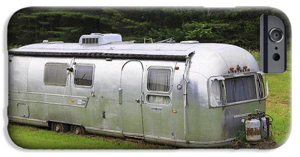 Trailers iPhone Cases - Vintage Airstream Trailer iPhone Case by Edward Fielding