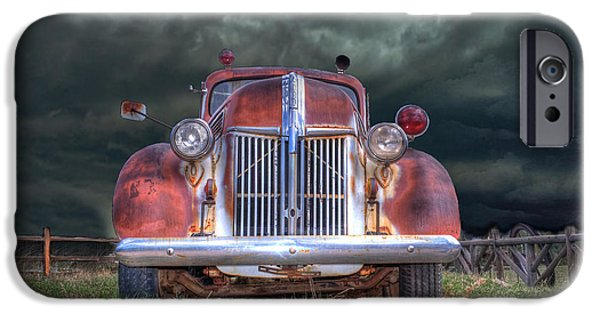 Abandoned iPhone Cases - Vintage American LaFrance Fire Truck iPhone Case by Juli Scalzi