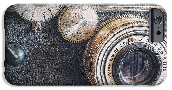 Aperture iPhone Cases - Vintage Argus C3 35mm Film Camera iPhone Case by Scott Norris