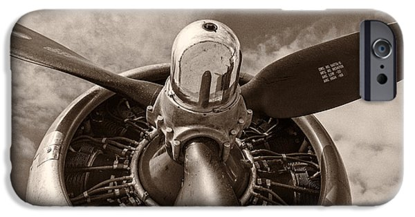 Old-fashioned iPhone Cases - Vintage B-17 iPhone Case by Adam Romanowicz