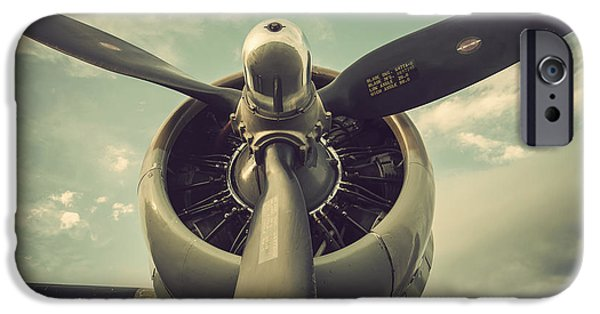 Weapon iPhone Cases - Vintage B-17 Flying Fortress Propeller iPhone Case by Terry DeLuco
