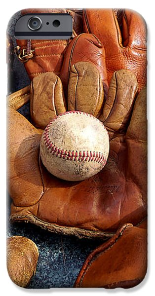 Vintage Baseball iPhone Case by Art Block Collections