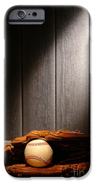 Vintage Baseball iPhone Case by Olivier Le Queinec